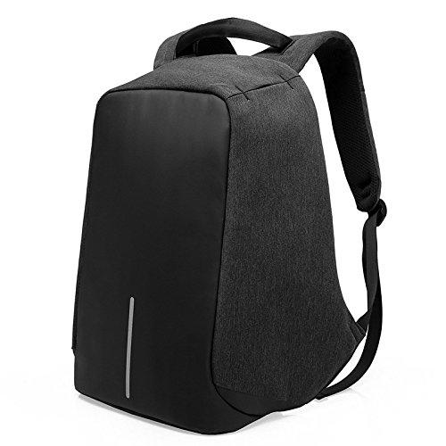 FANDARE 盗難防止のバックパック旅行バック laptop 15.6 インチパソコン 登山リュック・ザック アウトドア学校のバックパック多機能ユニセックス 防水リエステル ブラック