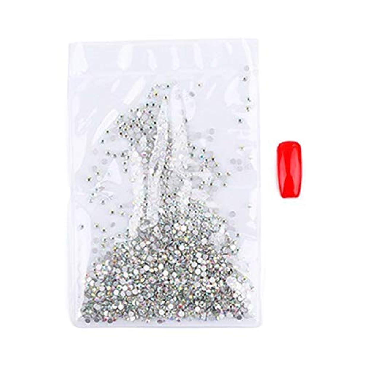 病騒ぎフロンティアOU-Kunmlef プロのネイルアートラインストーンオパールグリッターダイヤモンド宝石3次元のヒントDIYツール(None 1)