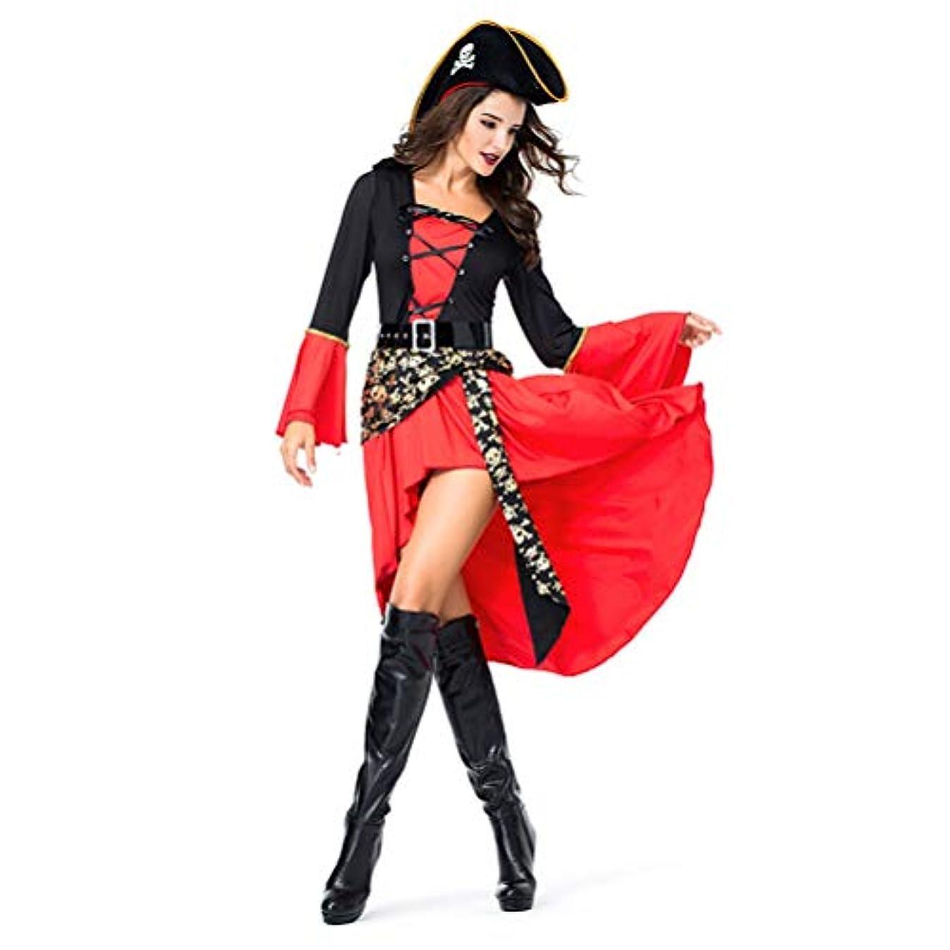 重荷野望感情海賊 コスチューム衣装仮装ハロウィン 女性用 ハロウィン衣装 コスプレ海賊帽付 パイレーツオブカリビアン風 大人用 ハロウィーン クリスマス COSPLAY 変装 仮装