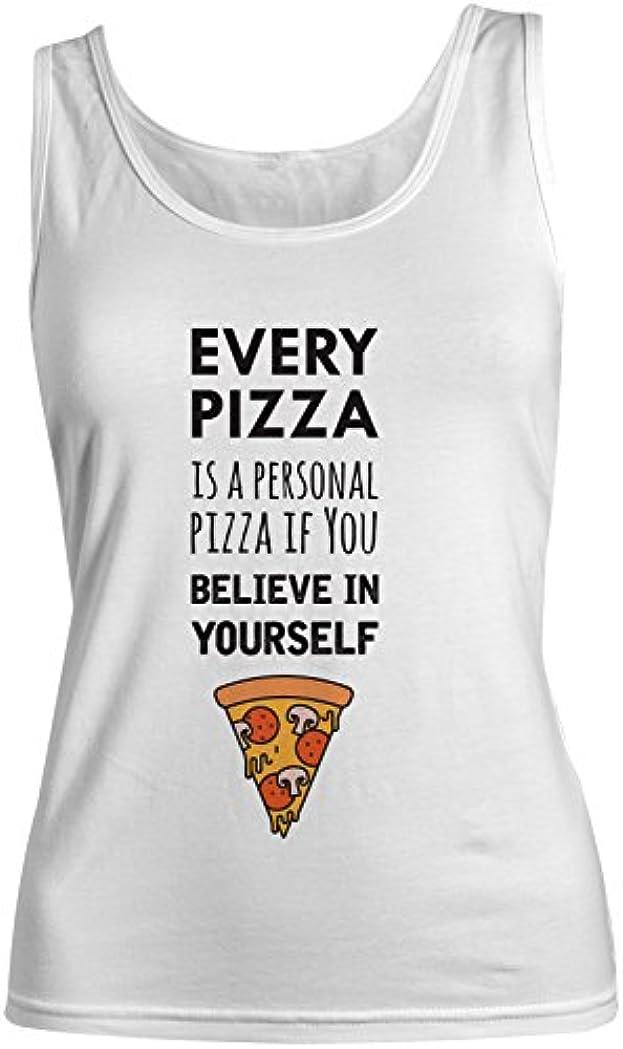 あえぎ試験プラスチックEvery Pizza Is A Personal Pizza おかしいです 皮肉な レディース Tank Top Sleeveless Shirt