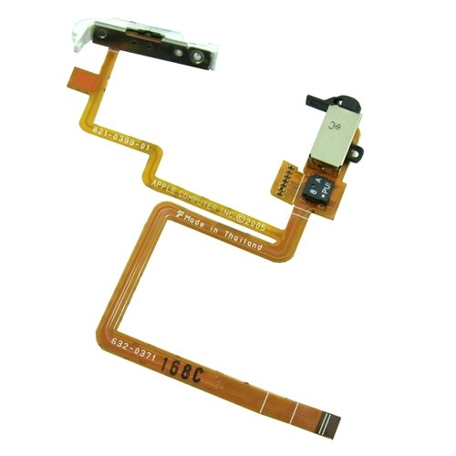【ヘッドホンジャック】【Headphone Audio Jack Flex Cable】for iPod Classic 80GB/120GB/後期160GB (ブラック)