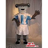 グレーハンマーヘッドシャークサッカースポーツ服に身を包みました