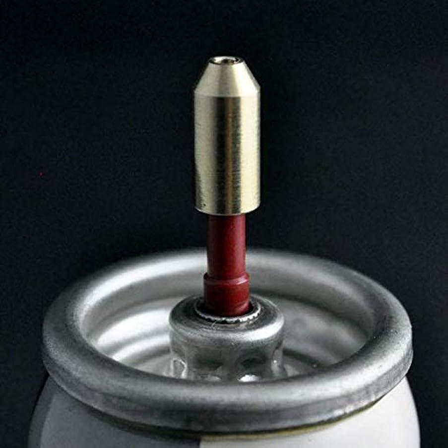 座標お気に入りとんでもないViffly デュポン ライターガス 注入式 変換 アダプター 汎用 ガス 注入 扱い簡単 ガス代節約 真鍮製 (1個)