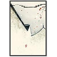 XUEPING 壁の芸術の絵画ソファの背景の装飾のリビングルームのベッドルームのオフィスバーホテルカフェ24の風景の数字壁の装飾のペンダント (色 : M, サイズ さいず : W40cm×H60cm)