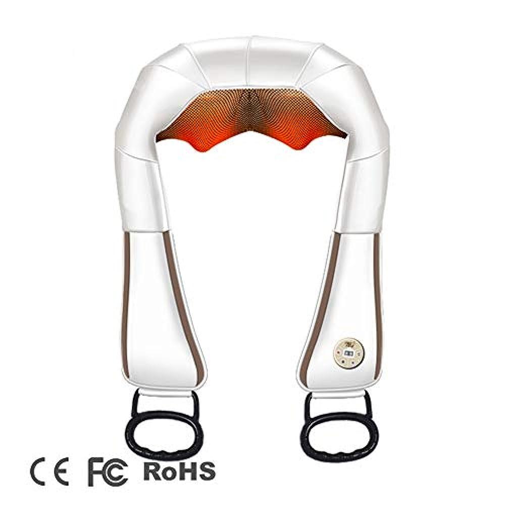 ローントロピカル代表する背中と首のための熱指圧マッサージ器と首と肩マッサージ-深い組織は足、足、体の筋肉の痛みの救済-ホーム、オフィスの車のための枕を練り