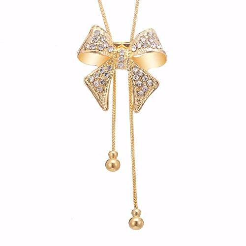[해외](샤이닝 걸스) shining girls 라리 엣토 긴 목걸이 나비 매듭 라인 스톤 우아한 스웨터 체인 패션 쥬얼리/(Shining Girls) shining girls Lariet Long Necklace Butterfly Rhinestone Elegant Sweater Chain Fashion Jewelry