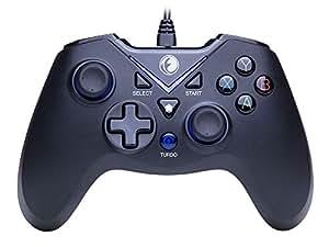 IFYOO V-one振動機能搭載USB接続Xbox 360系コントローラー有線ゲームパッドジョイスティックPC(Windows XP/7/8/8.1/10) / Android / PS3に対応 - Xbox 360非対応 - [ブルーブラック]