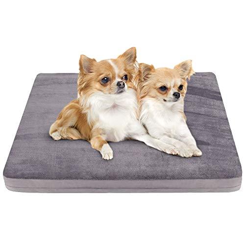 JoicyCo ペットベッド 犬ベッド クッション性抜群 足腰・関節にやさしい 老犬に 子犬 暖かい 冬 丁度いい厚さ カバーだけ洗う 清掃しやすい 多頭飼い 滑り止め 型崩れしない 通年使える 60*50*5cm(グレー S)