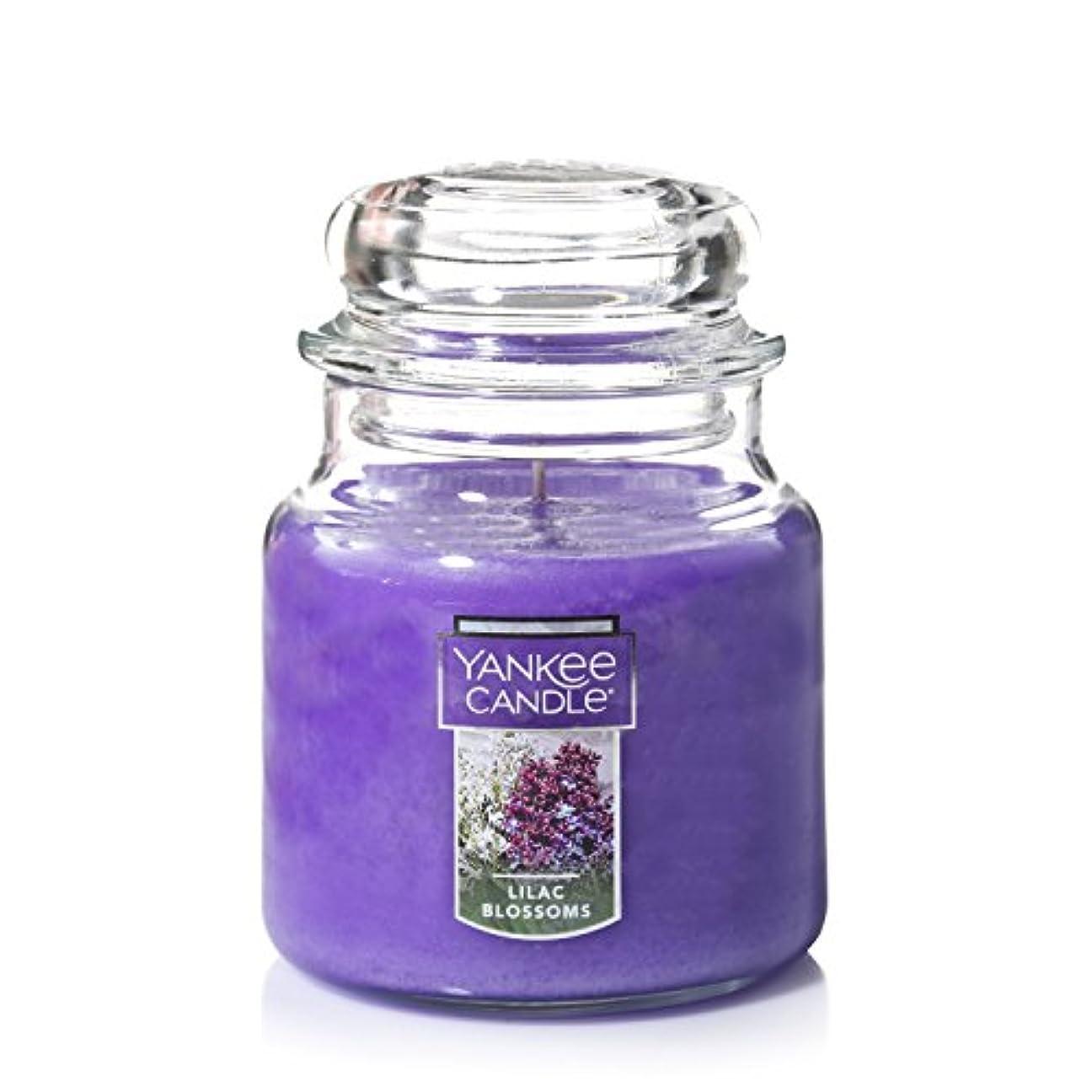 犯す時間とともにダウンYankee CandleライラックBlossoms Medium Jar 14.5oz Candle One パープル 1006996