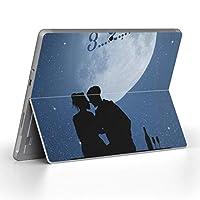 Surface go 専用スキンシール サーフェス go ノートブック ノートパソコン カバー ケース フィルム ステッカー アクセサリー 保護 人物 空 月 009993