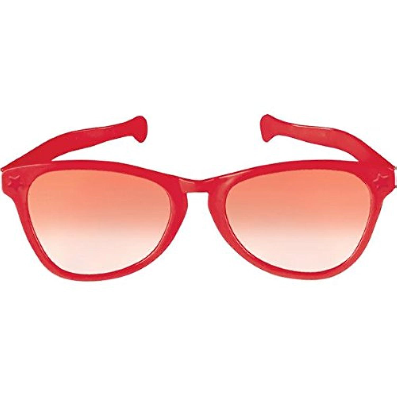 [Amscan]Amscan Party Ready Team Spirit Jumbo Glasses , Red, 11.6 x 3.6 259769.40 [並行輸入品]