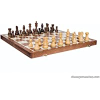 Tournament American Stauton folding wooden chess set - Great gift - chessgamesshop.com