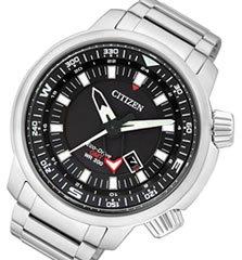 CITIZEN (シチズン) BJ7081-51E PROMASTER/プロマスター EcoDrive/エコドライブ ソーラー GMT ブラックダイアル メタルベルト メンズウォッチ 腕時計[並行輸入品]