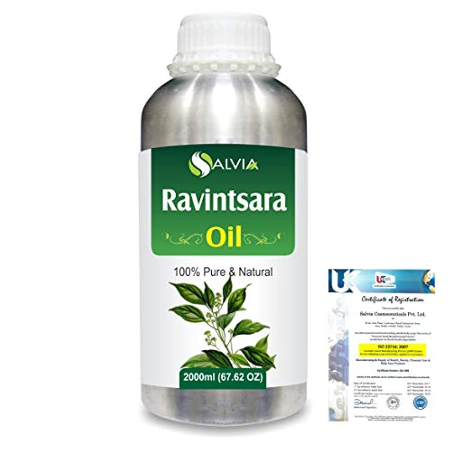 性格不当ファンシーRavintsara (Cinnamomum Camphora) 100% Natural Pure Essential Oil 2000ml/67 fl.oz.