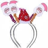 Tinksky 2個入りカチューシャクリスマス光ヘッドバンドヘアフープコスチュームアクセサリーパーティーFavors (サンタクロース)
