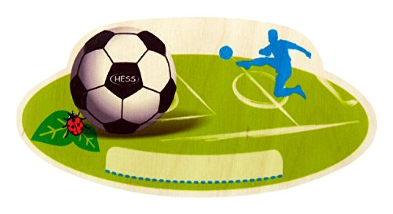 カレンダーグループページHess 木製サッカーネームプレート 赤ちゃん用おもちゃ