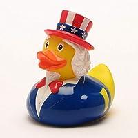 DUCKSHOP | Uncle Sam Rubber Duck | Bathduck ゴム製のアヒル| L: 8,5 cm