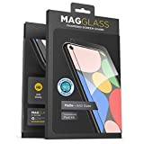 Magglass Google Pixel 4a Tempered Glass Screen Protector - Anti Bubble UHD Clear Full Coverage Anti-Microbial Display Guard (Case Compatible)