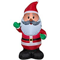 Black Santa Inflatable 4 Feet Tall, African American Santa Claus Outdoor Inflated Christmas Decorations [並行輸入品]