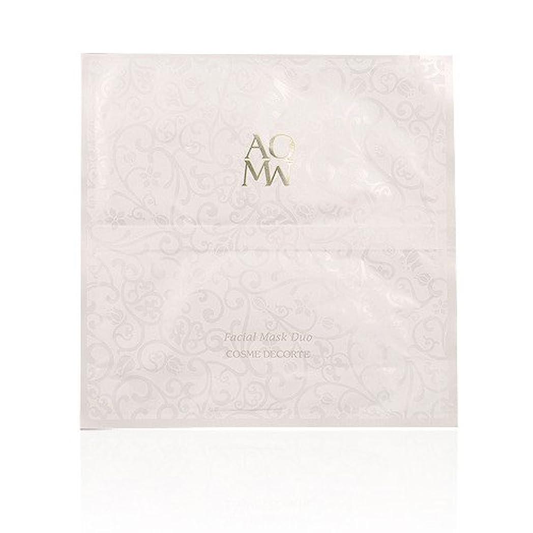 害擬人思春期のコスメデコルテ AQMW フェイシャル マスク デュオ 1枚 (並行輸入品)