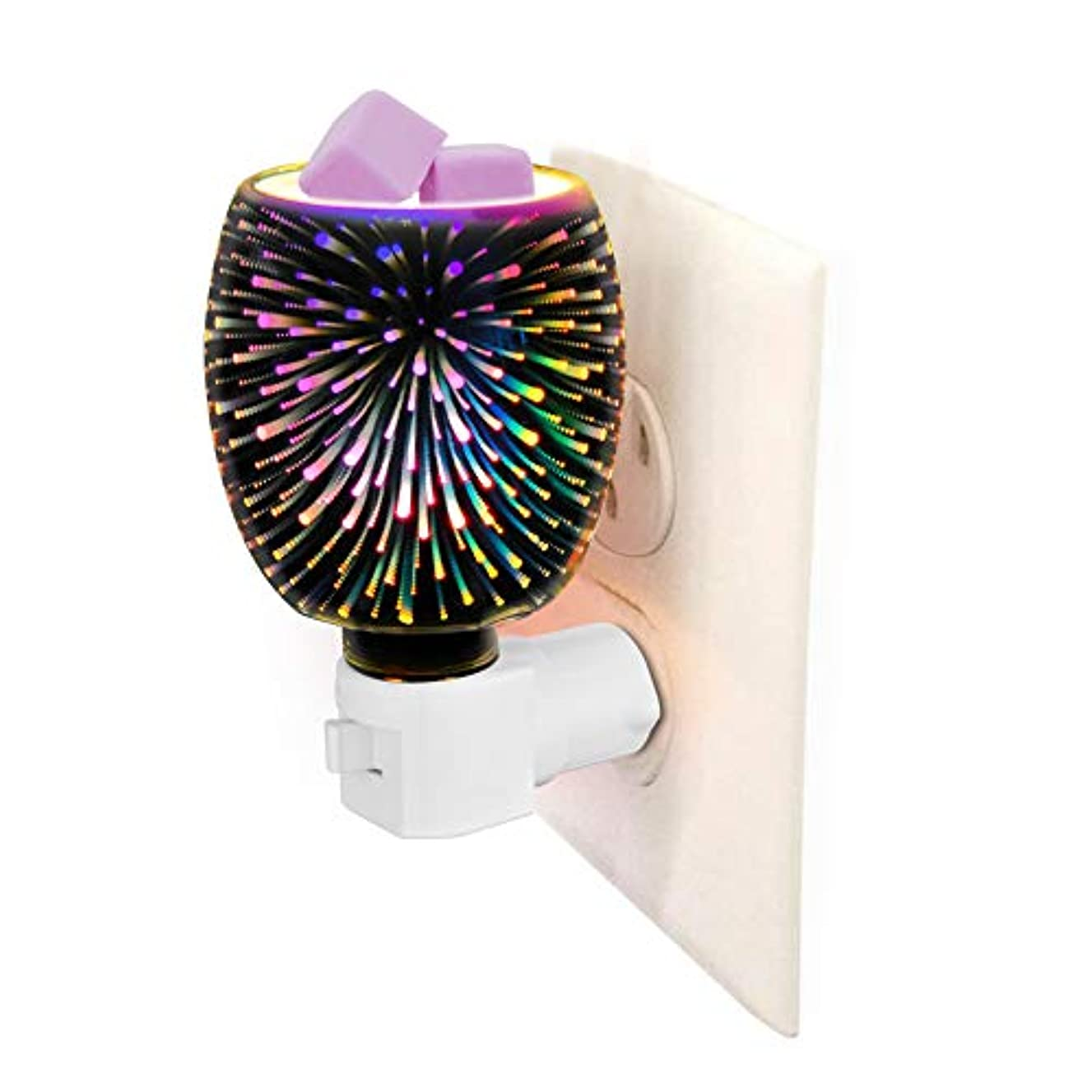 3D Glass Pluggable Fragrance Warmer- Decorative Plug-in for Warming Scented Candle Wax Melts and Tarts or Essential...
