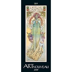 Art Nouveau 2019: Kunst Vertikal Kalender