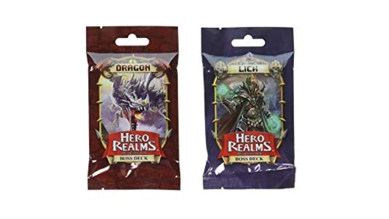 Hero Realms ドラゴンボスデッキとリッチボスのデッキ White Wizard Games製 (2アイテム)