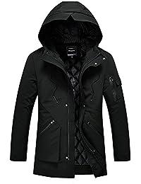 NKT ARROWS 中綿ジャケット メンズ M-5XL ロング丈 フード付き 全3色 無地 中綿コート カジュアル ライトダウン 防寒 上品 高品質 ファッション 大きいサイズ きれいめ