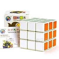 ShengShou Track 7081A 3x3x3光沢マジックキューブスピードキューブパズルキューブカラーホワイト