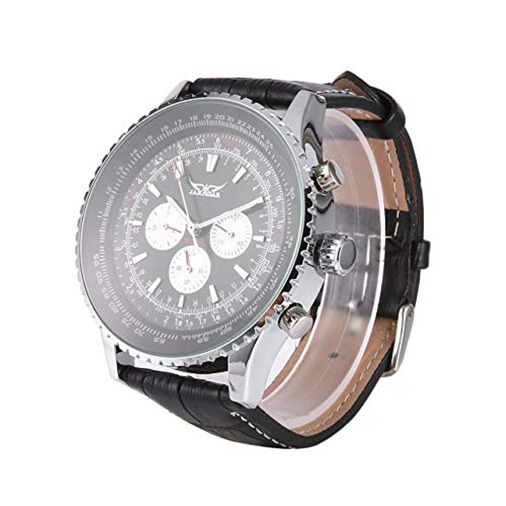 現実確かな申込みDeeploveUU Jaragar多機能男性腕時計自動機械式ステンレススチールケース自動日付時計中空バック手首ビッグダイヤル時計