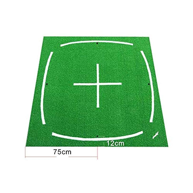 欺く晩ごはん真っ逆さまポータブルゴルフ3dパッド屋内練習ゴルフマット折りたたみヒット草マット底ゴルフトレーニング芝生パッド用家族裏庭 ゴルフ練習マット (色 : 緑, サイズ : 1.5*1.5m)