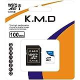 K.M.D microSDXC 256GB UHS-1 U3 V30 4K Ultra HD アプリ最適化 A2対応 SDアダプター付 (256GB)