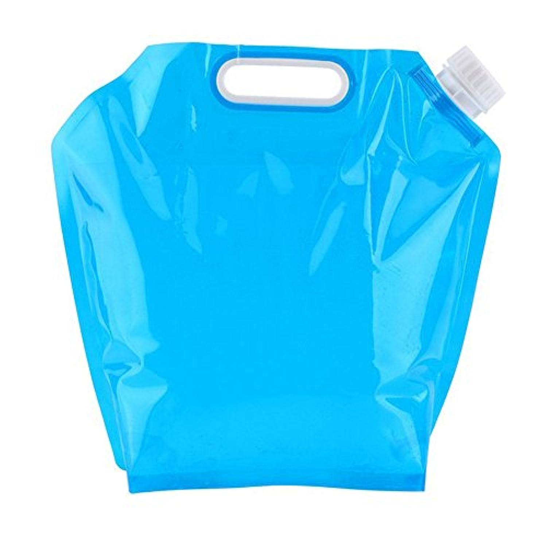 Asentech 折り畳み式の避難グッズ ウォータータンク 災害 防災 非常用給水袋 キャンプ ハイキング 旅行水袋 貯水袋 規格3L/5L/10L (10L)