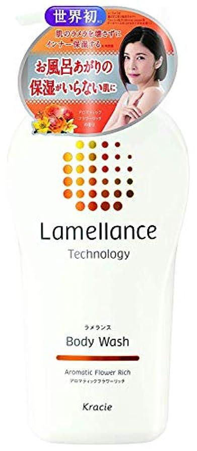 ブレース追加比較的ラメランス ボディウォッシュポンプ480mL(アロマティックフラワーリッチの香り) ラメラ構造を壊さずに角質層保湿