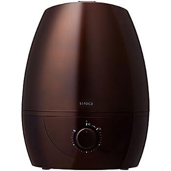 siroca 5L加湿器 SD-C111 パールダークブラウン[大容量5L/給水タンク分離/超音波式加湿]