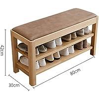 多機能ソリッドウッドシューズベンチシンプルなノルディックシューズスツールシューキャビネットのドアは、靴のベンチに座ることができます (サイズ さいず : 30cn*42cm*80cm)