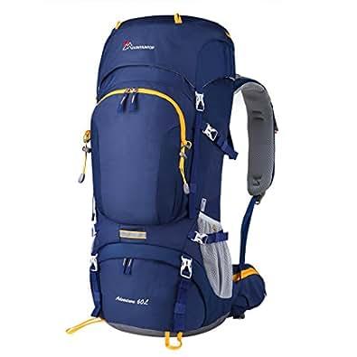 Mountaintop 登山リュック 60L 大容量 防水 軽量 リュックサック 旅行用バックパック 防災リュック キャンプ用品 デイパック レインカバー付 全4色