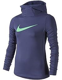 (ナイキ) Nike Pro Hyperwarm Pullover Hoodie ガールズ?子供 シャツ?トップス [並行輸入品]