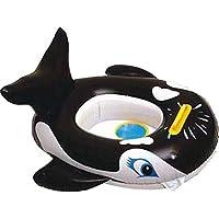 子供たちはボートに乗ってクジラ