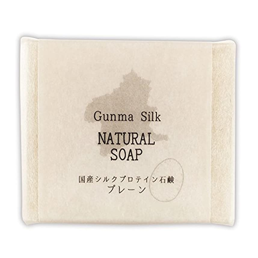 慣習いじめっ子深さBN 国産シルクプロテイン石鹸 プレーン SKS-01 (1個)