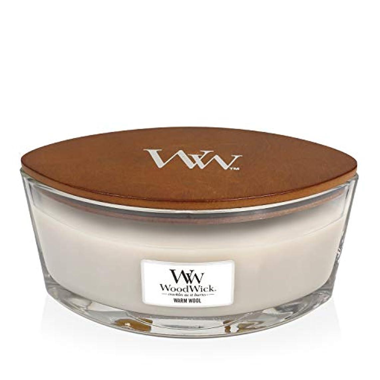 出血死にかけている医薬WoodWick WARM WOOL HearthWick 炎で香るキャンドル