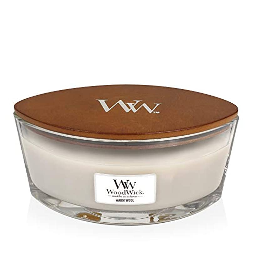 パフまつげ論争の的WoodWick WARM WOOL HearthWick 炎で香るキャンドル