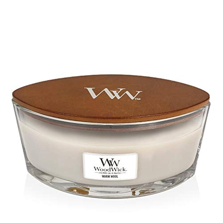 空中粒子降伏WoodWick WARM WOOL HearthWick 炎で香るキャンドル