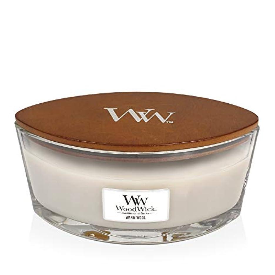 無謀生きる一般的なWoodWick WARM WOOL HearthWick 炎で香るキャンドル