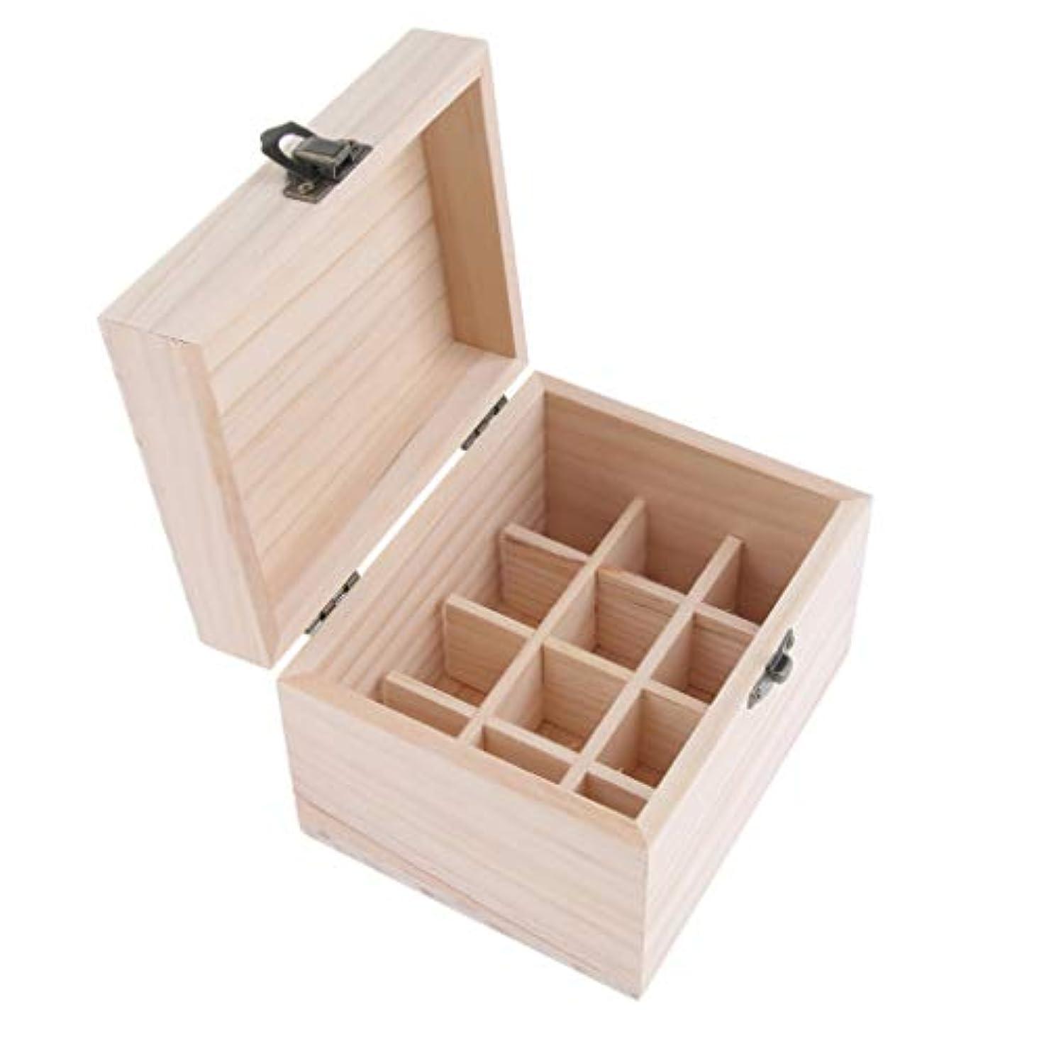 文献便宜ペナルティ12本用 エッセンシャルオイケース アロマ 精油ケース 木製 仕切板可動