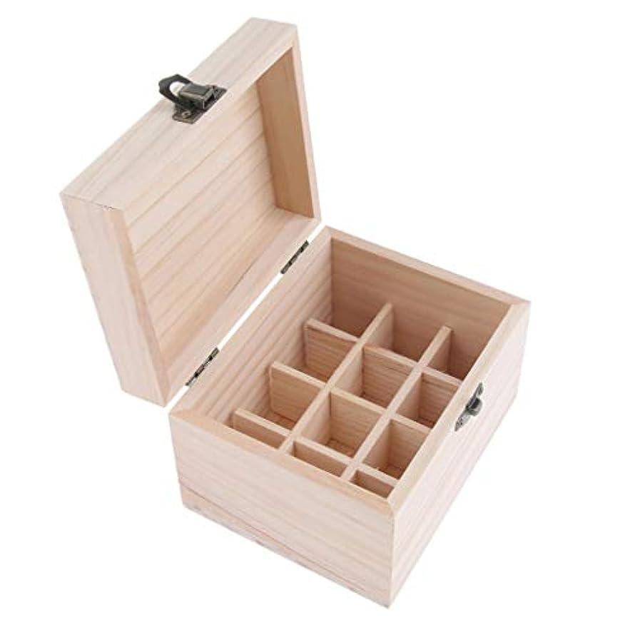 何もない刈り取る名義で12本用 エッセンシャルオイケース アロマ 精油ケース 木製 仕切板可動
