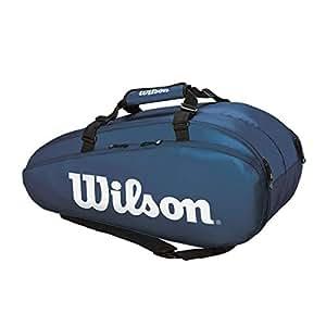 Wilson(ウイルソン) テニス バドミントン ラケットバッグ TOUR 2 COMP LARGE(ツアー2コンプラージ) ラケット9本収納可能 WR8004002001 ネイビー/ホワイト