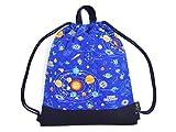 持ち手付きKidsナップサック 太陽系惑星とコスモプラネタリウム(ロイヤルブルー) 日本製 N0446800