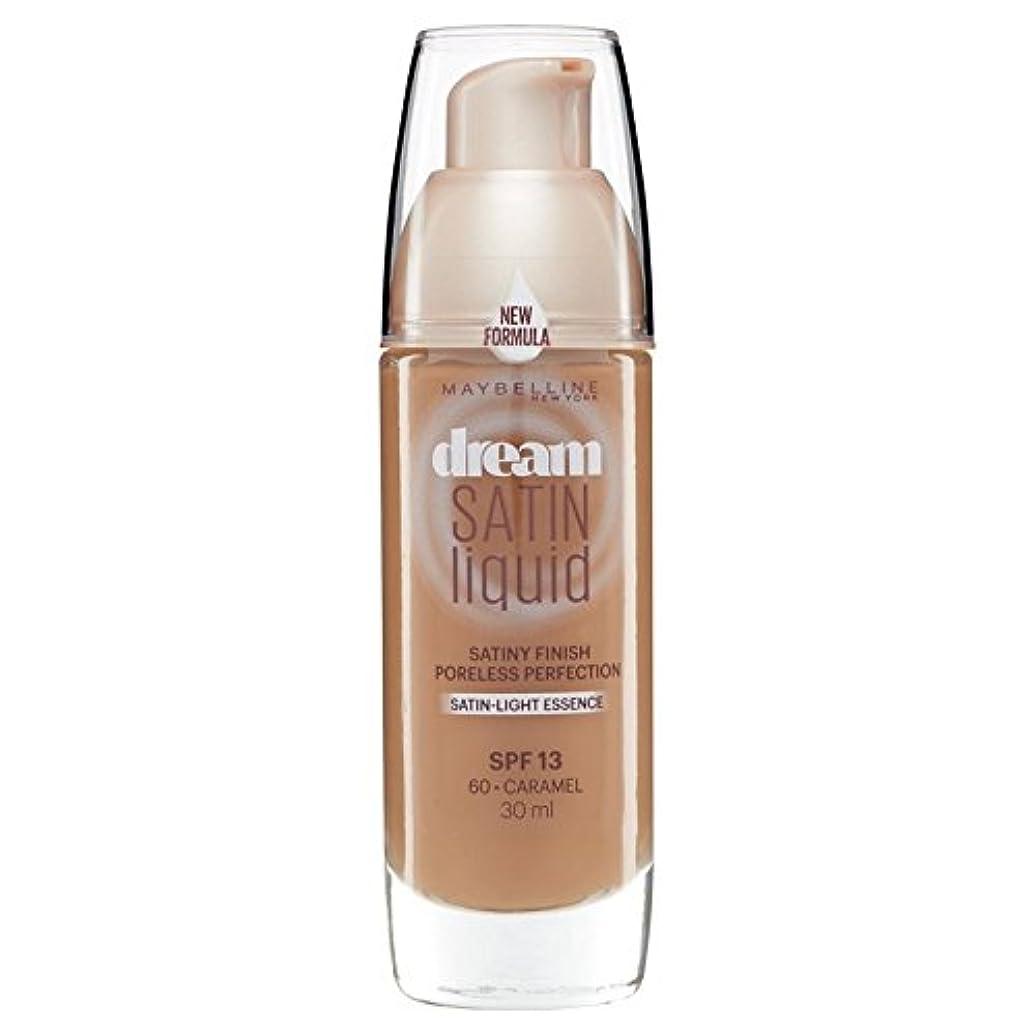 申し込む踊り子社交的Maybelline Dream Satin Liquid Foundation 060 Caramel 30ml (Pack of 6) - メイベリン夢のサテンのリキッドファンデーション060キャラメル30ミリリットル...