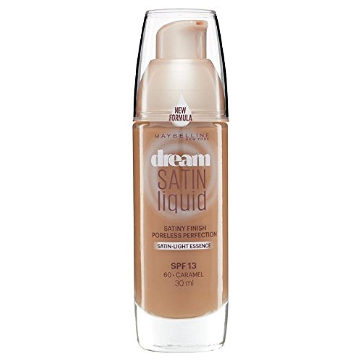 篭本土半ばMaybelline Dream Satin Liquid Foundation 060 Caramel 30ml (Pack of 6) - メイベリン夢のサテンのリキッドファンデーション060キャラメル30ミリリットル...